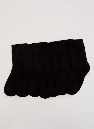 DeFacto 7'li Uzun Çorap Siyah